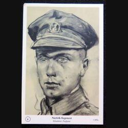 Carte postale Norfolk Regiment Infanterie anglaise dessin au fusain de Lucien Jonas