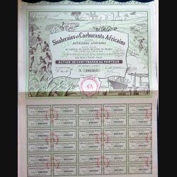 Action des Sisaleraies et Carburants Africains 100 Francs au porteur du 5 Octobre 1928 n° 106364