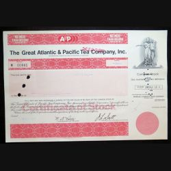 Action The Great Atlanticv & Pacific Tea Company, Inc de 1000 Shares du 2 mars 1977 n° 841