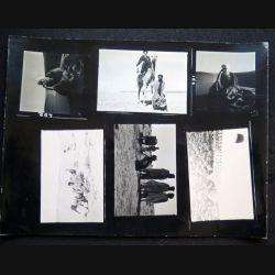 Photo argentique 18 x 24 cm sur la guerre d'Algérie planche de 6 photos sur vie locale et soldats