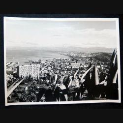 Photo argentique 18 x 24 cm sur la guerre d'Algérie Alger vue de l'aéro-habitat 1958
