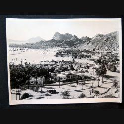 Photo argentique 18 x 24 cm sur la guerre d'Algérie vue générale de Djanet 1958