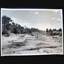 Photo argentique 18 x 24 cm sur la guerre d'Algérie Oued Béchar 1958