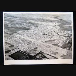 Photo argentique 18 x 24 cm sur la guerre d'Algérie vue aérienne de Djelfa 1958