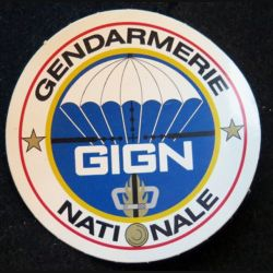 Autocollant du GIGN gendarmerie diamètre 8,5 cm