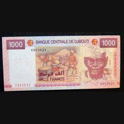 DJIBOUTI : billet de banque de 1000 francs