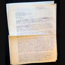 Trois lettres de l'écrivain Roger D Masters adressées au Commissaire général du Plan 1967 et signées