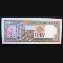 LIBAN : billet de banque de 500 Livres