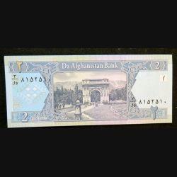 AFGHANISTAN : billet de banque de 2 Afghanis