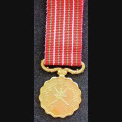 OMAN : médaille miniature de la fête nationale 15 ans Glorious 15 th national day medal avec boite