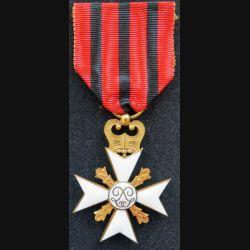 BELGIQUE : Croix belge pour services civiques de 1° classe pour longues carrières dans l'administration en émail
