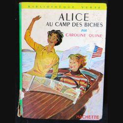 Alice au camp des biches écrit par Caroline Quine aux éditions Hachette-Bibliothèque Verte - F018