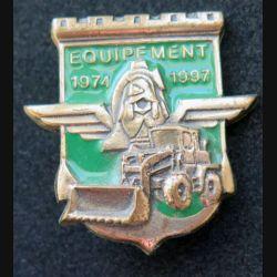 17° RGP : section équipement de la compagnie d'appui du 17° RGP 1974 1997 boléro rond en bronze massif (Leblond)