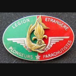 6° REG : plongeurs parachutistes du 6° régiment étranger du génie de la légion étrangère fabrication G & P émail
