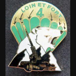35° RAP : 4° batterie du 35° régiment d'artillerie parachutiste loin et fort fabrication J.Y Ségalen émail
