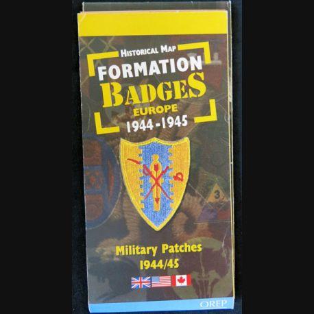Carte Historique Formations Badges Europe 1944-1945 aux éditions OREP - F019