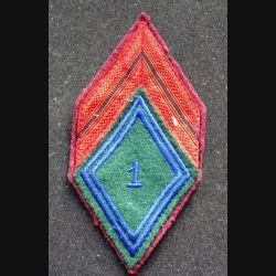 1° RTP : Galon de caporal du 1° régiment de train parachutiste sur fond grenat