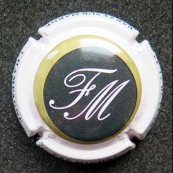 Capsule Muselet de bouteille de champagne Faÿ Michel  blanc crème (L8)