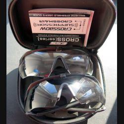 Coffret de deux paires de lunettes balistiques neuves Crossbow