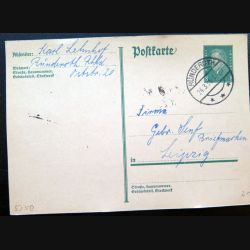 Carte postale allemande postkarte 24/03/1931 avec timbre embouti Deutsches Reich 8 pfennig