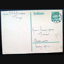 Carte postale allemande postkarte 26/11/1925 avec timbre embouti deutches Reich 5 pfennig