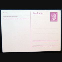 Carte postale allemande postkarte avec timbre embouti Deutsches Reich 6 pfennig marron
