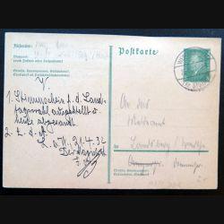 Carte postale allemande postkarte 21/04/1932 avec timbre embouti 8 pfennig vert