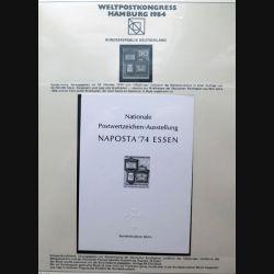 Carte 1° jour Weltpostkongress Hamburg 1984 Naposta 74 essen