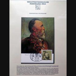 Carte 1° jour Weltpostkongress Hamburg 1984 Bundesrepublik Deutschland 120 pfennig