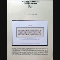 Carte 1° jour n° 18933 Weltpostkongress Hamburg 1984 5 timbres Lübeck