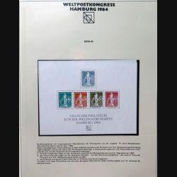Carte 1° jour Weltpostkongress Hamburg 1984 5 timbres 75 jähre Weltpostverein Berlin
