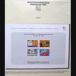Carte 1° jour Weltpostkongress Hamburg 1984 4 timbre Helvetia série 1980