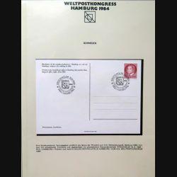 Carte 1° jour Weltpostkongress Hamburg 1984  1 timbre Sverige Carl Gustav