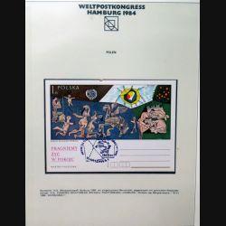 Carte 1° jour Weltpostkongress Hamburg 1984 Pablo Picasso Polska Pologne