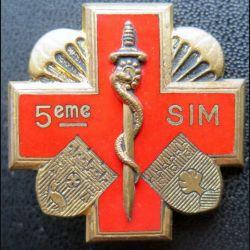 5° SIM : 5° section d'infirmiers militaires de fabrication Drago Olivier Métra H. 768 émail