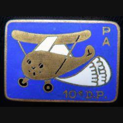 PA 10° DP : peloton d'avion de la 10° division parachutiste Drago G.1562 émail