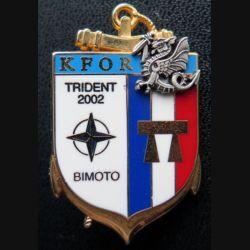 8° RPIMA : 8° RPIMA TRIDENT 2002 BIMOTO MITROVICA KFOR N° 037 fabrication LR