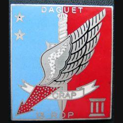 13° RDP :  CRAP DAGUET du 13° régiment de dragons parachutistes en émail (IMC ?)
