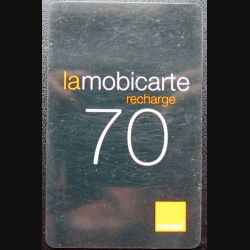 carte téléphonique mobicarte recharge orange 70