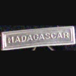 """BARRETTE """"MADAGASCAR"""" ARGENTÉE POUR MÉDAILLE MINIATURE"""