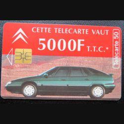 télécarte 50 unités Citroën cette carte vaut 5000 F TTC France télécom