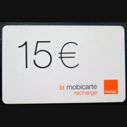 Mobicarte recharge 15 € Orange