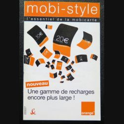 Fiche technique mobi-style orange (document papier)