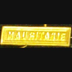 """BARRETTE """"MAURITANIE"""" DORÉE POUR MÉDAILLE MINIATURE"""