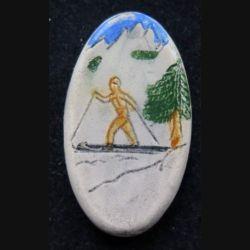 Fève Skieur de fond céramique