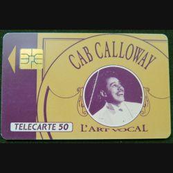 télécarte 50 unités Cab Calloway l'Art Vocal France télécom