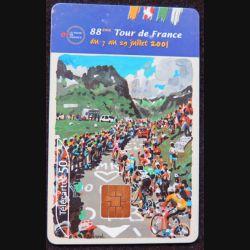 télécarte 50 unités France télécom 87° Tour de France sous blister neuve