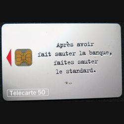 télécarte 50 unités France télécom après avoir fait sauter la banque ...