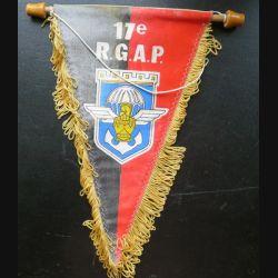 17° RGP : fanion du 17° régiment du génie parachutiste  26 x 15 cm imprimé