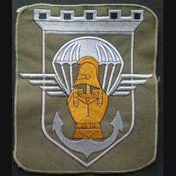17° RGP : écu du 17° régiment du génie parachutiste  16,5 x 19,5 cm brodé